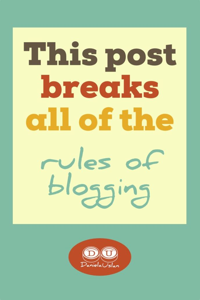 This post breaks all the rules of blogging   Blog writing ...