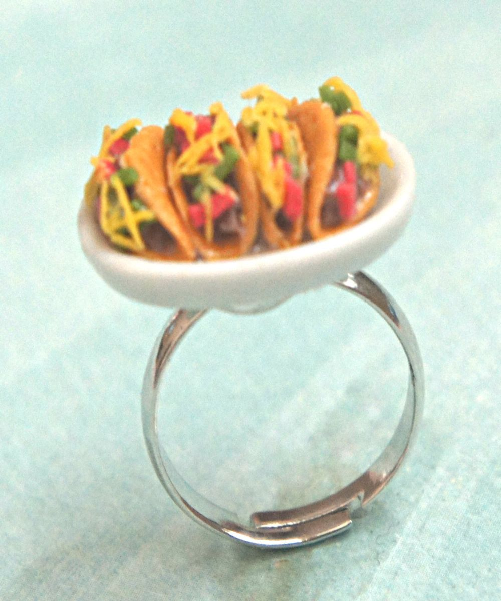 Tacos Plate Ring & Tacos Plate Ring | Ceramic plates Polymer clay and Polymers
