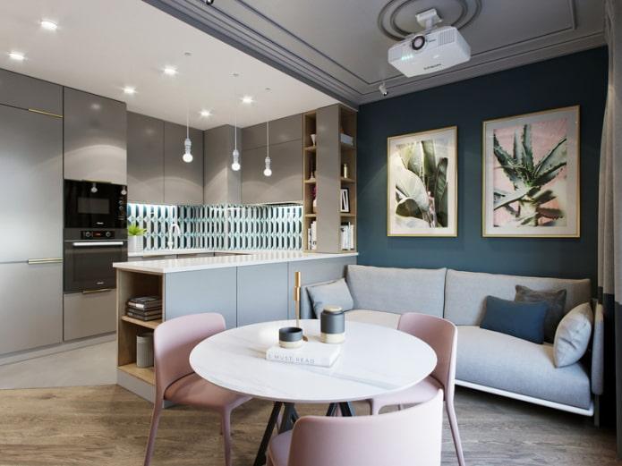 Как оформить дизайн интерьера кухни-гостиной 17 кв м? в ...