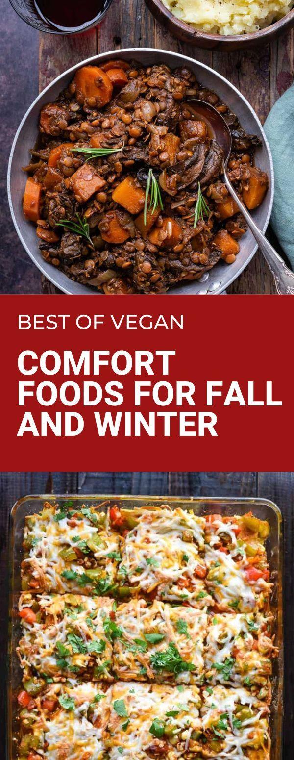 24 Vegan Comfort Food Dinner Recipes For Fall And Winter Bad To The Bowl In 2020 Vegan Comfort Food Vegan Recipes Healthy Comfort Food