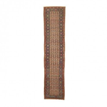 Doris Leslie Blau Antique Hamadan Wool Runner - 3 x13