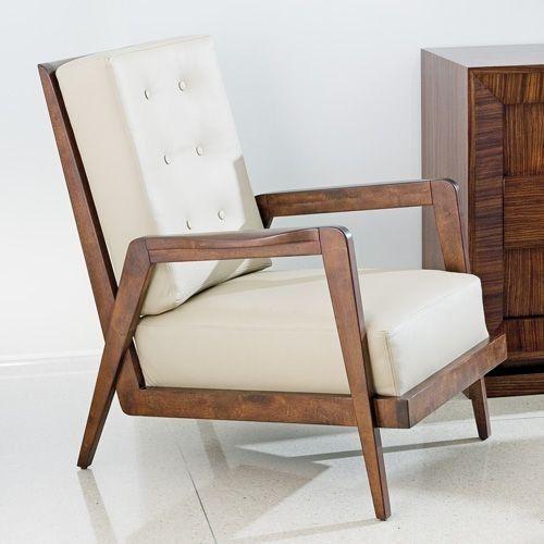 Global Views French Arm Chair Chairs   Modern   Armchairs   Bobby Berk Home