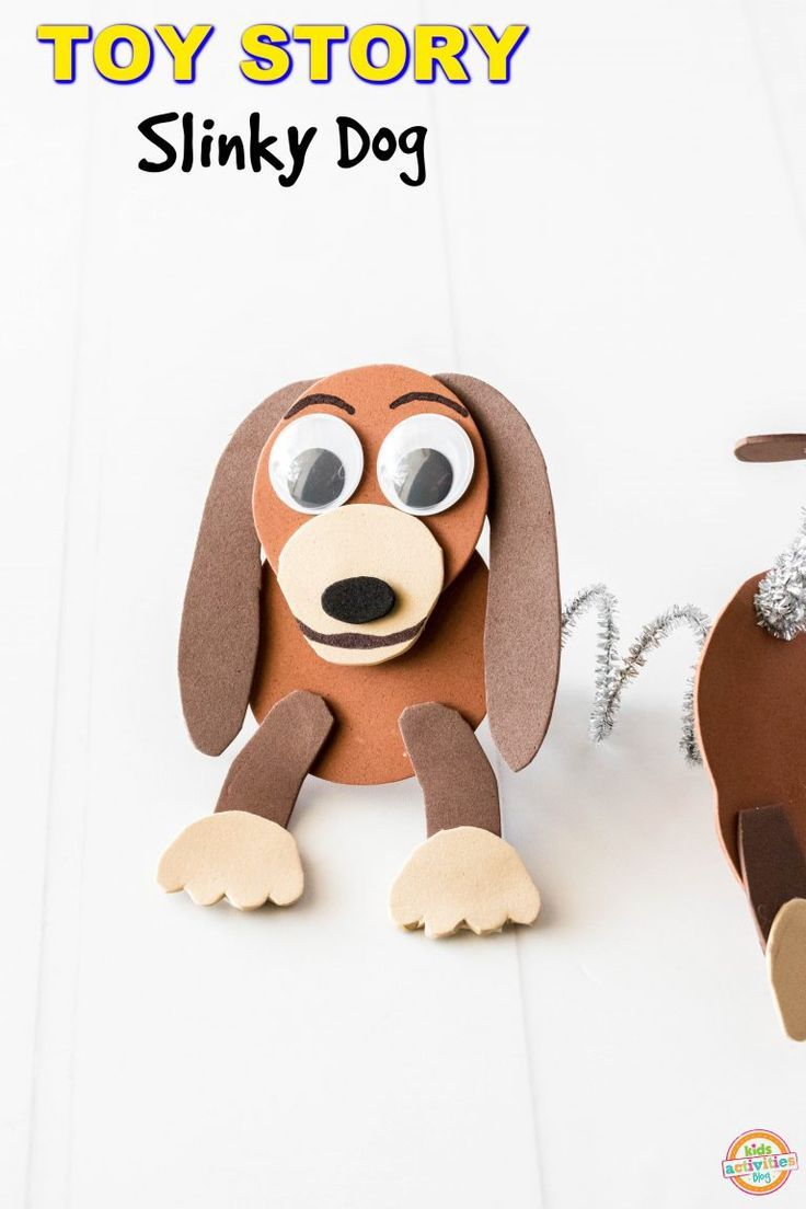 Toy Story Slinky Dog An Easy Toy Story Craft D G Ideas