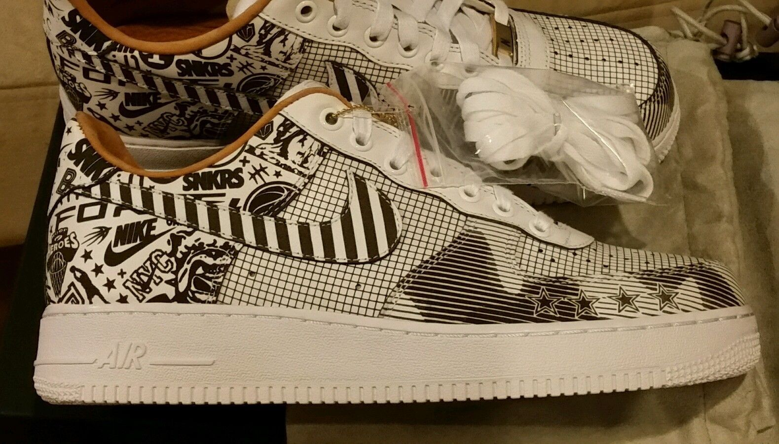 nike air force 1 nyc laser