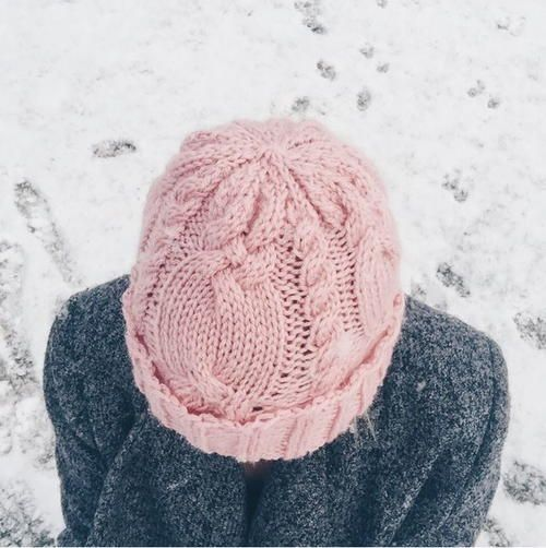 73208a53076 This Dusty Rose Cable Hat is an attractive