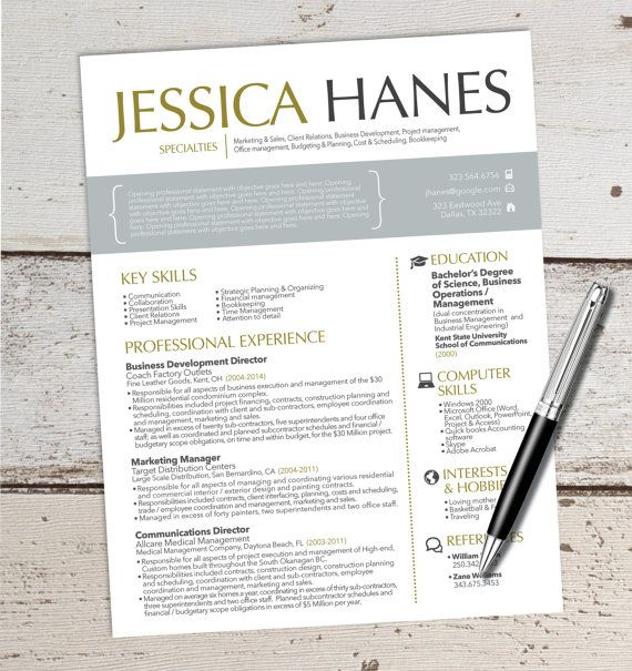 Resume Design (Not Template - Customized) - Graphic Design - sales and customer service resume