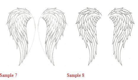 How to draw how to draw angel wings i think this is the shape i want for my wall