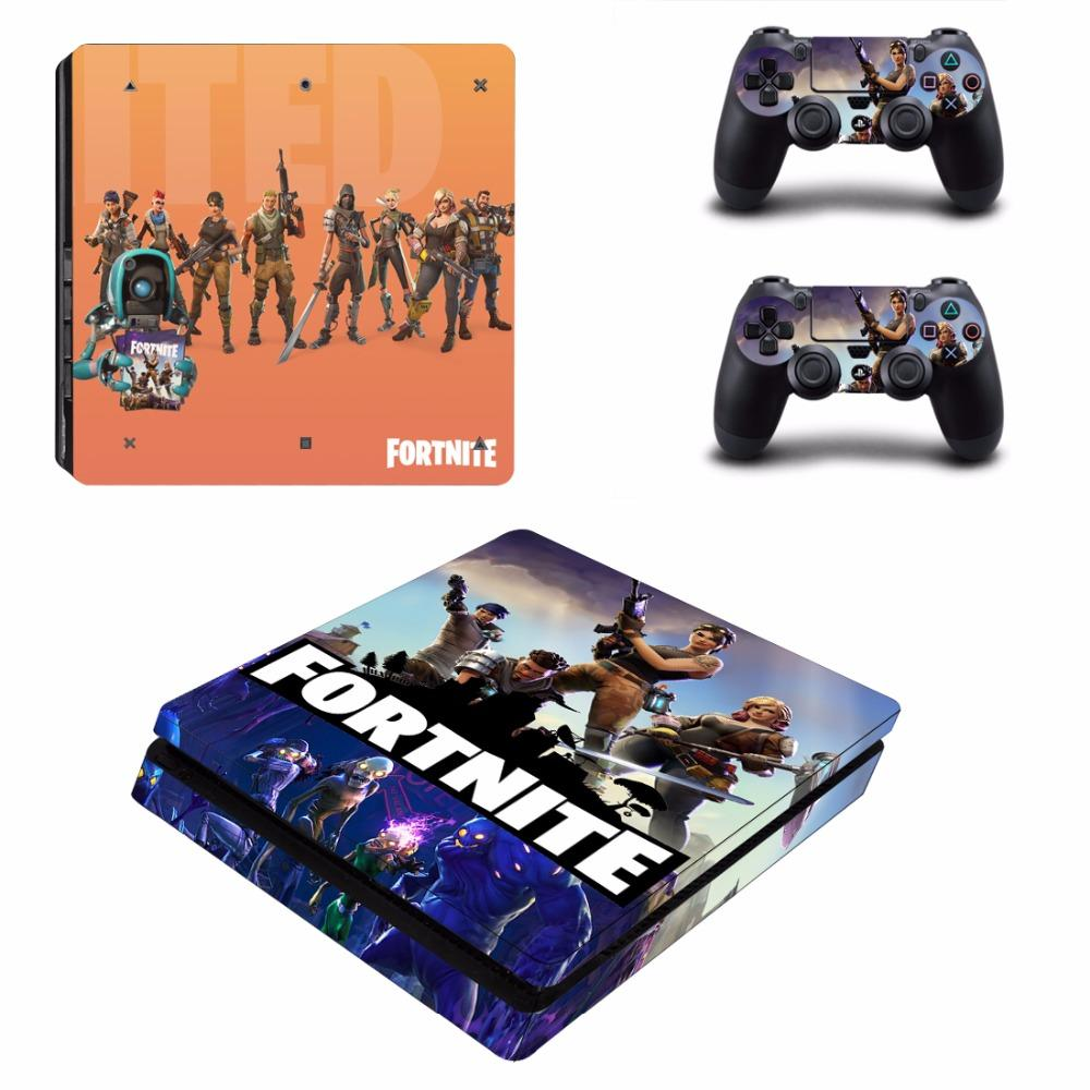 Fortnite Theme Skin Sticker For Sony Playstation 4 Slim Console And