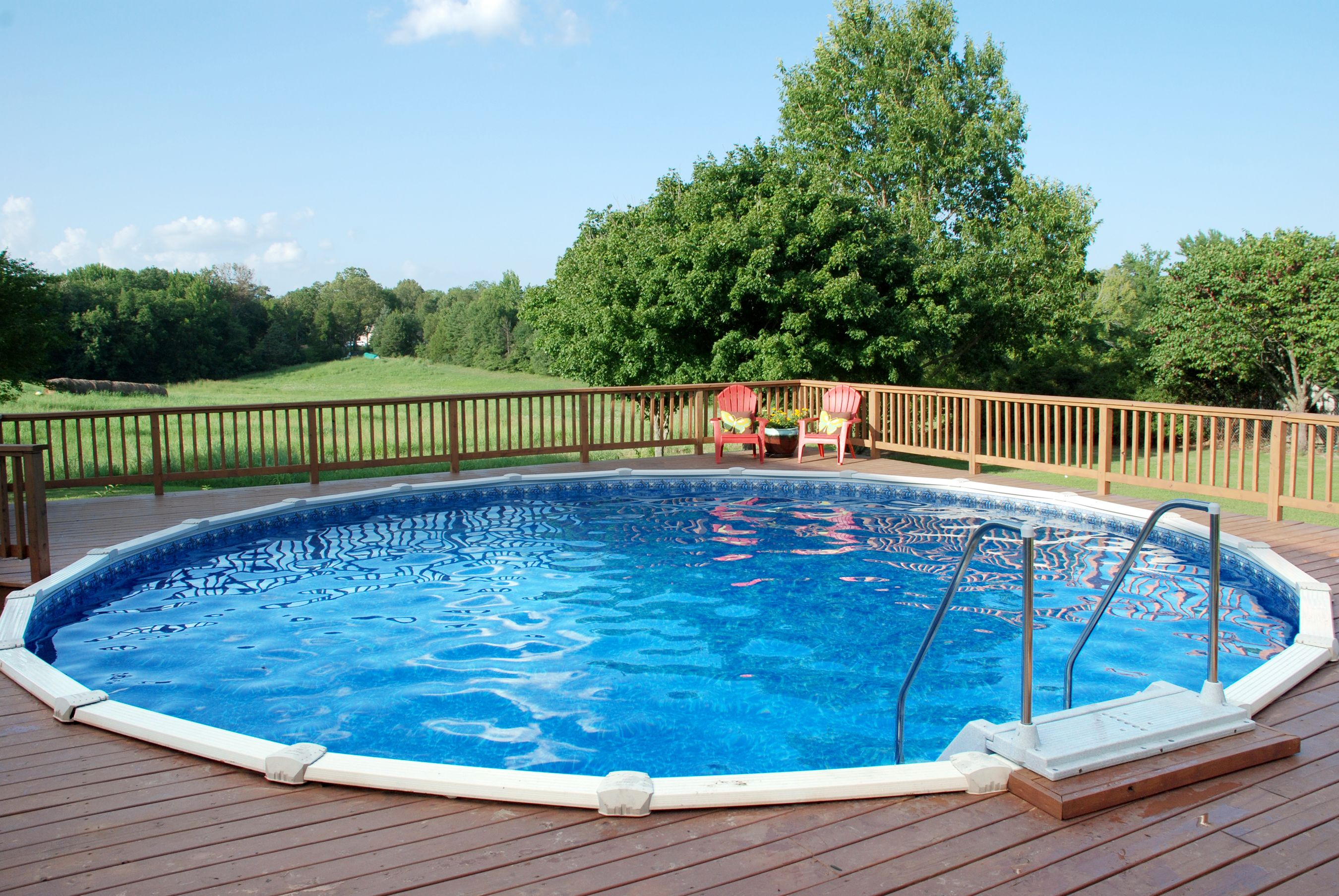 Doughboy Above Ground Pool with Full Custom Deck | Decks ...