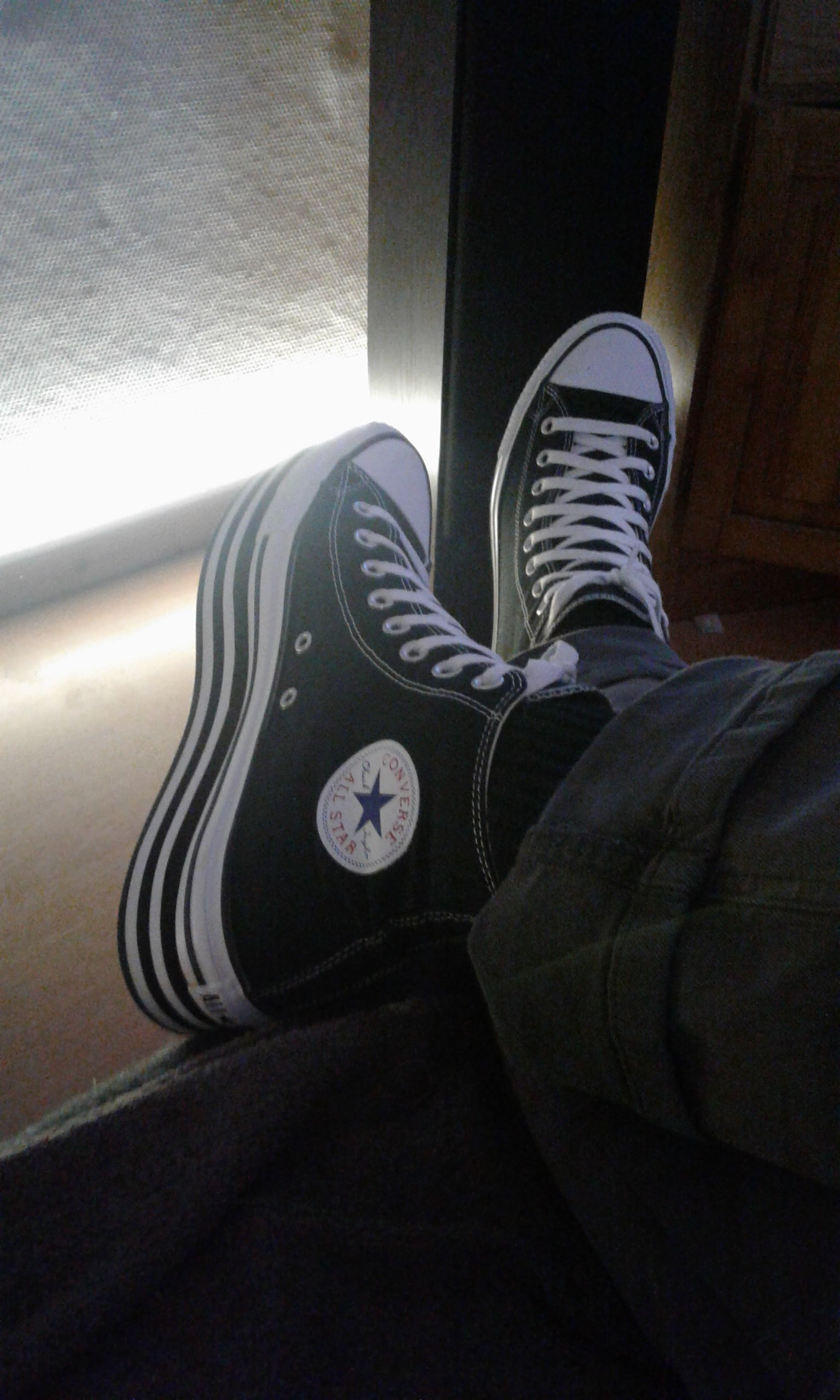 Converse All Star hi black platform plateau | Chucks schuhe ...