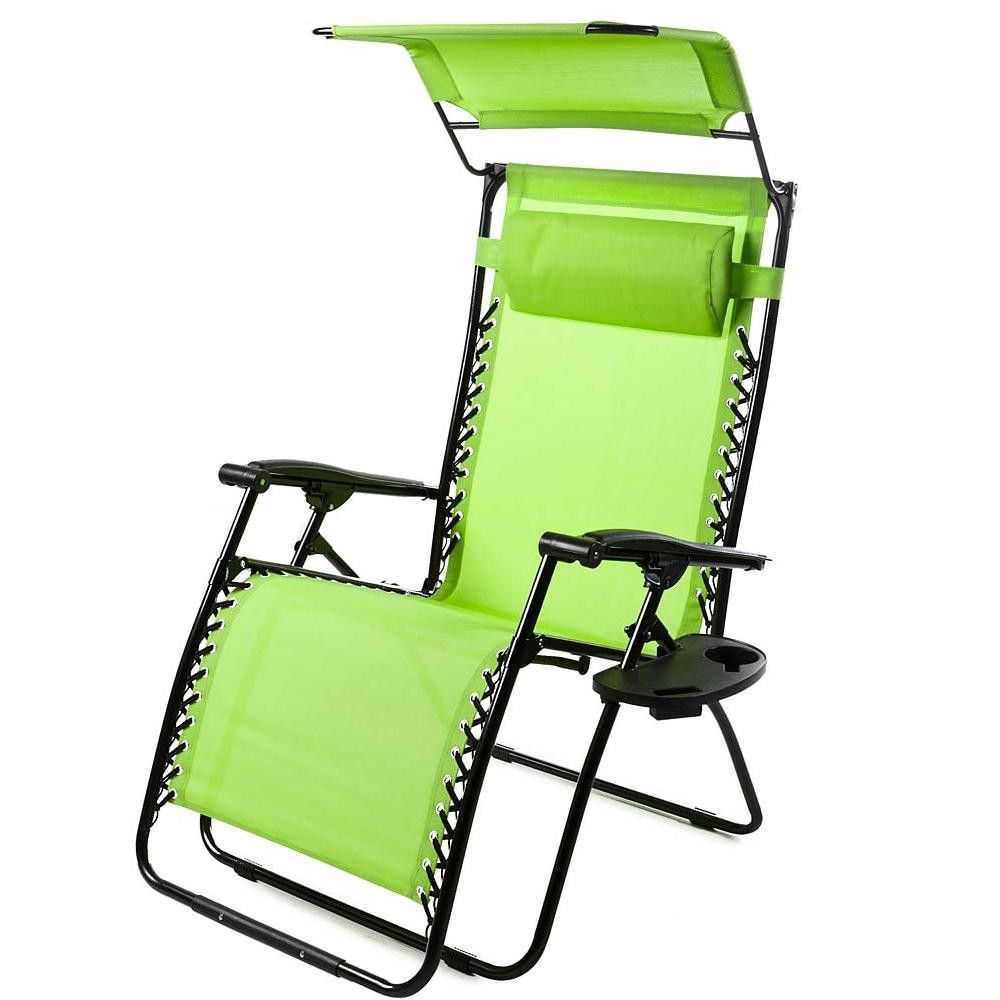 Awe Inspiring Deluxe Zero Gravity Chair With Canopy Table Drink Holder Machost Co Dining Chair Design Ideas Machostcouk