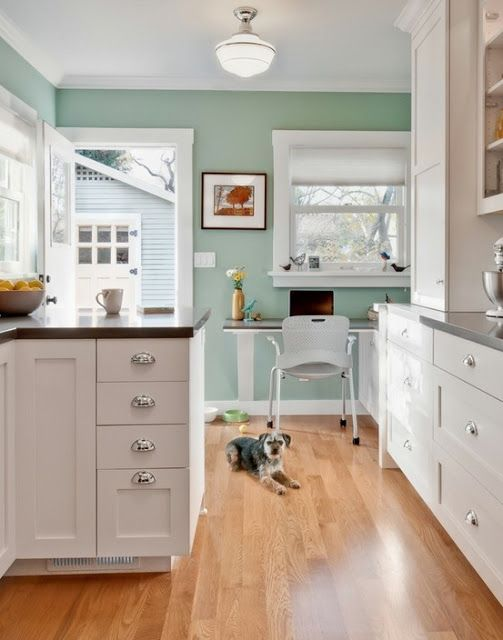 Benjamin Moore Kensington Green Home Home Kitchens Green Kitchen