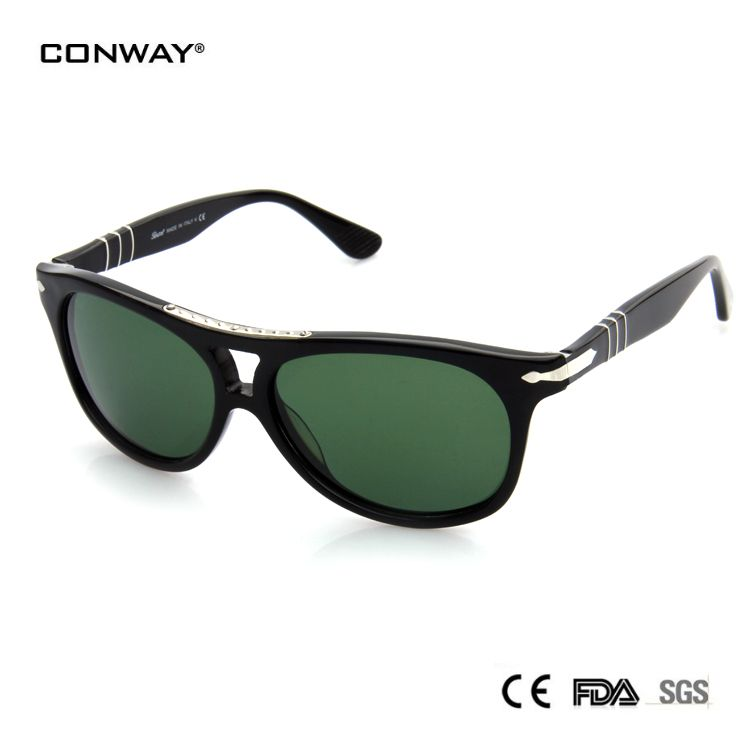 CONWAY 2017 Sunglasses Women Brand Designer Round Vintage Uv400 Protection Glass Lens Sun Glasses