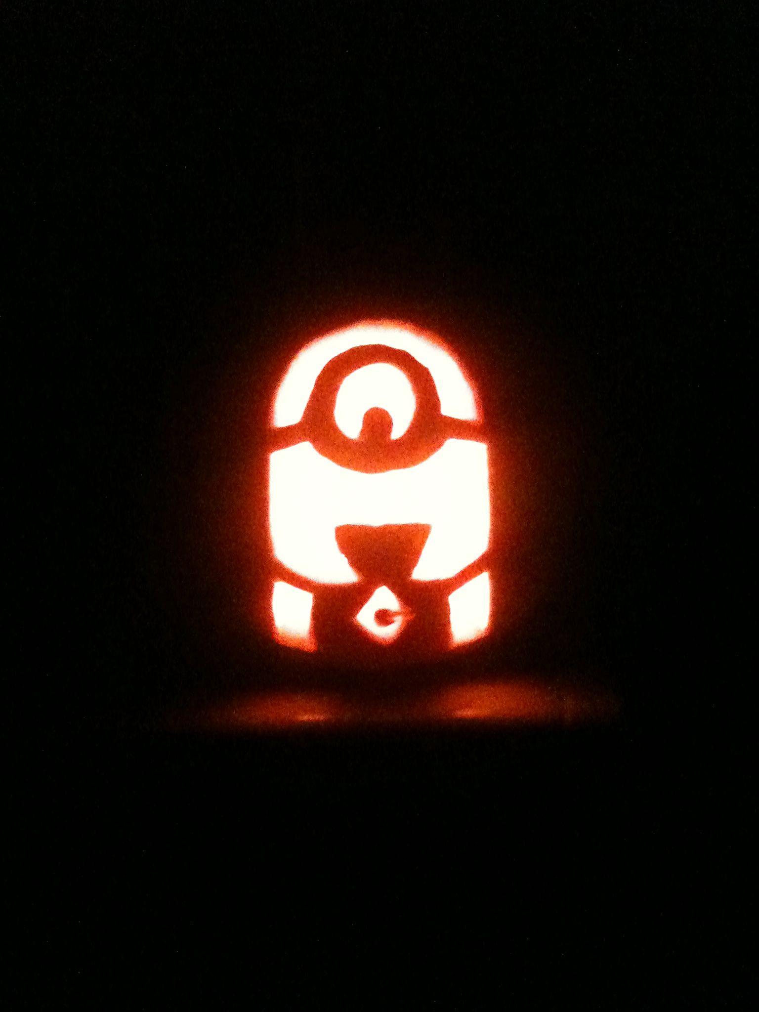Minion Pumpkin For My Babys First Halloween