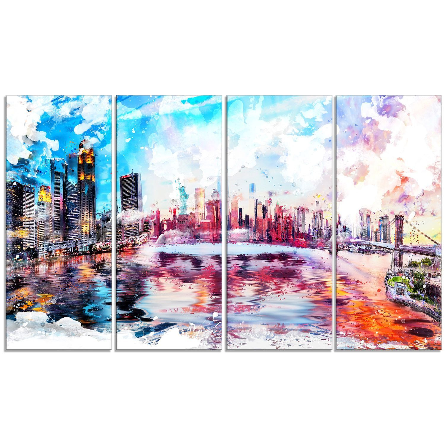 This Exquisite Lively NYC Cityscape Canvas Wall Art Print