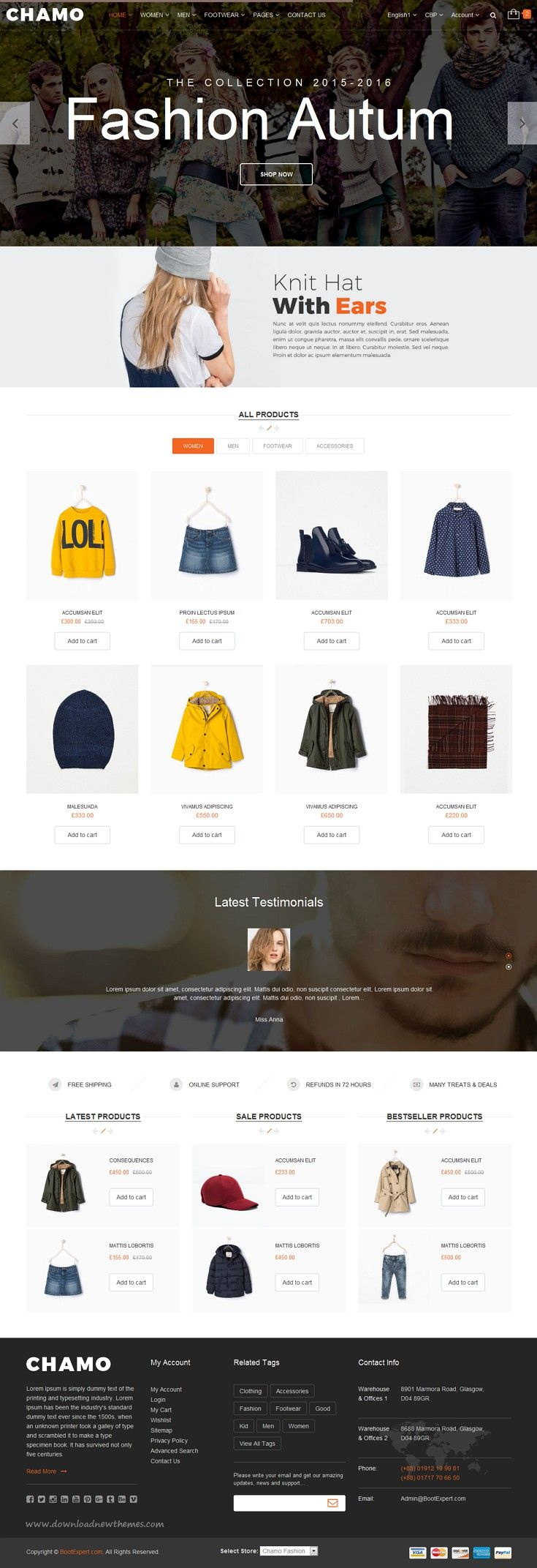 Chamo- eCommerce Bootstrap Template   eCommerce and Template