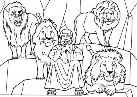 Free Coloring Pages Of Bible Daniel Lions Den Daniel And The Lions Coloring Pages Cute Coloring Pages