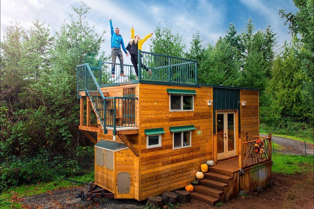 204sqft basecamp green tiny house by backcountry tiny