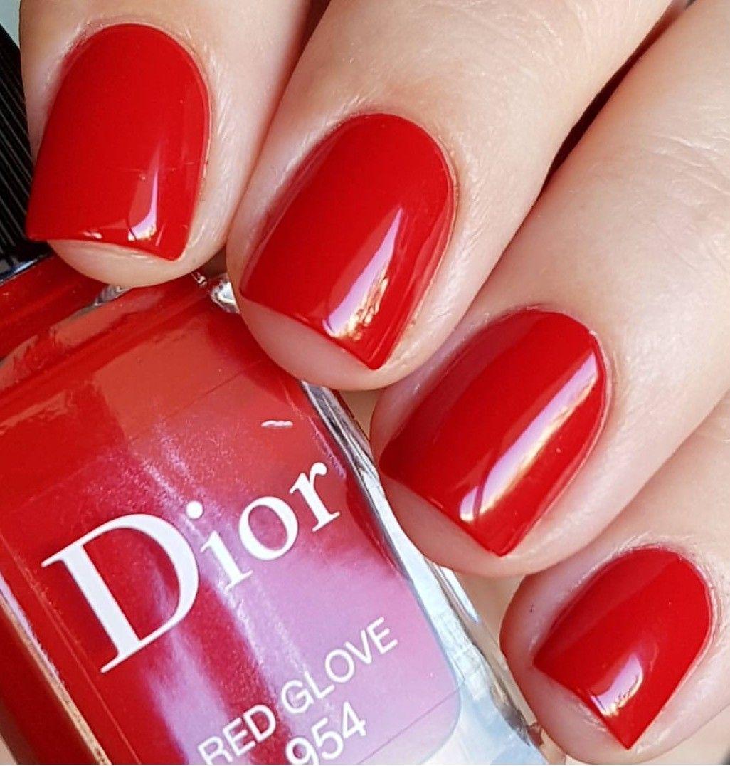 Dior Red Glove | Лаки которые никому не отдам ни-за-что | Pinterest