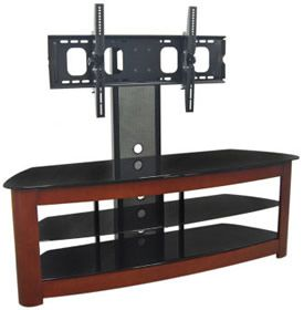 day giftwalker edison tv stand with removable mount cherryblack