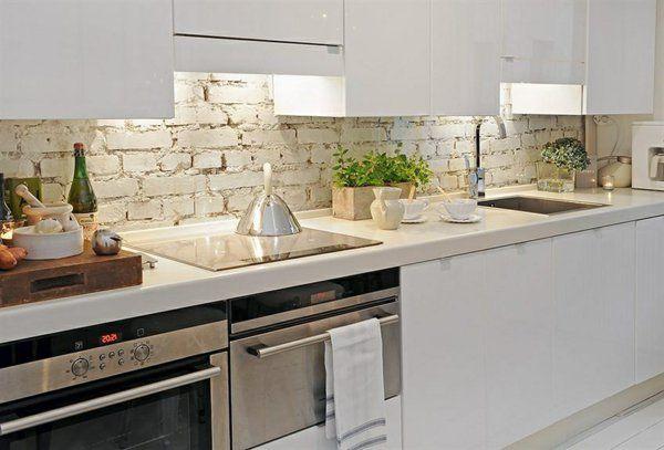 Tolle Küche Fliesenspiegel kochherd schrank idee Haus - ideen fliesenspiegel k che
