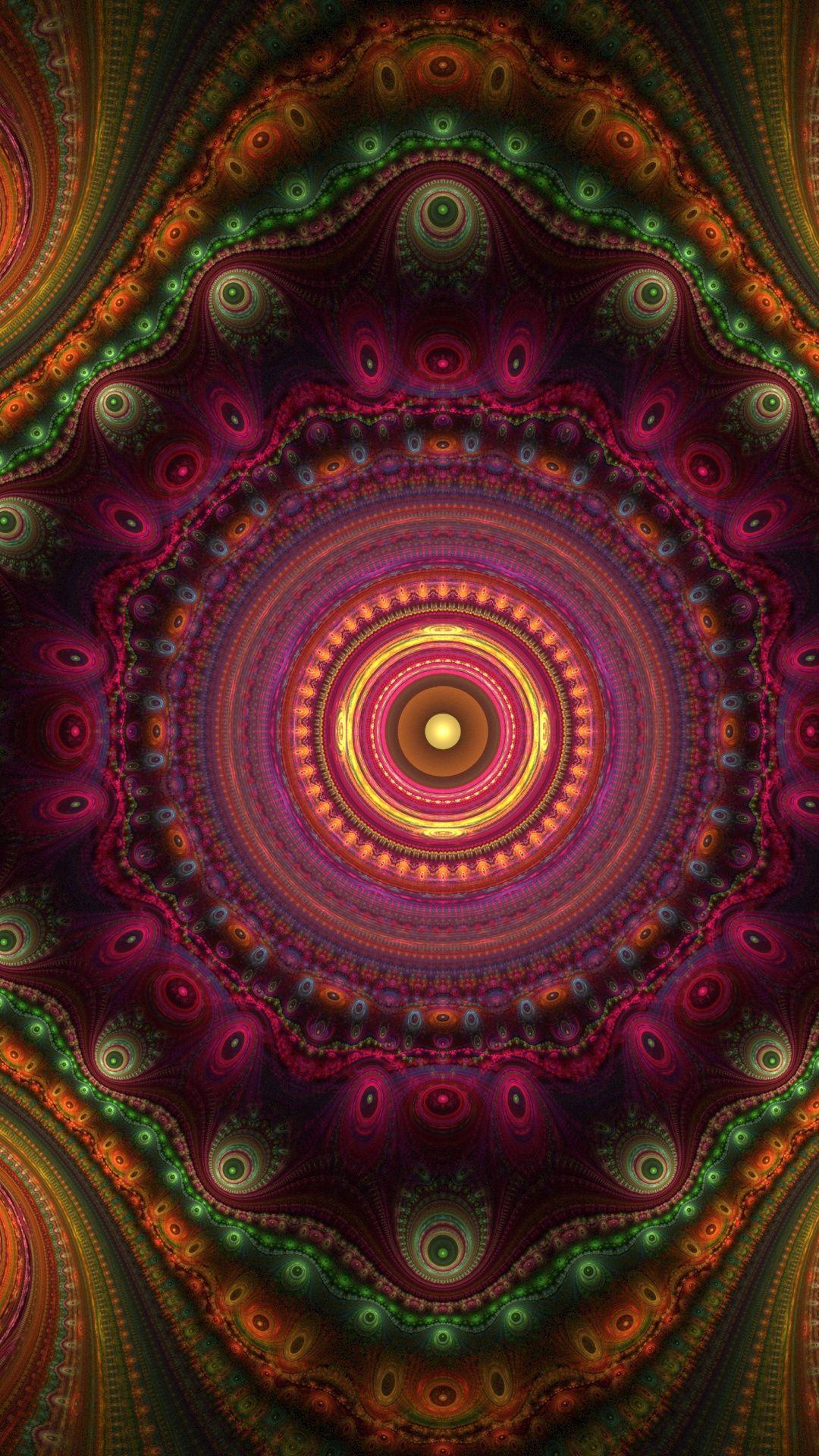 1080x1920 Artwork Fractal Pattern Kaleidoscope Wallpaper Fractal Art Fractal Patterns Wallpaper