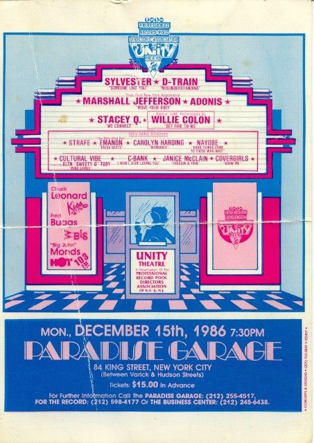 Class Of 808 Flyer Paradise Garage Garage Party