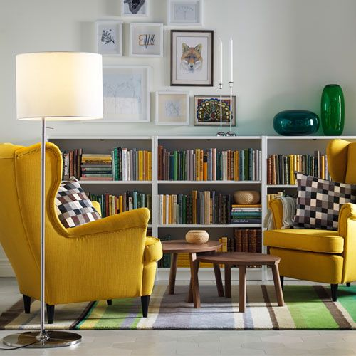 BILLY bibliothèque basse blanche IKEA Deco Pinterest Salons - schöne schlafzimmer farben