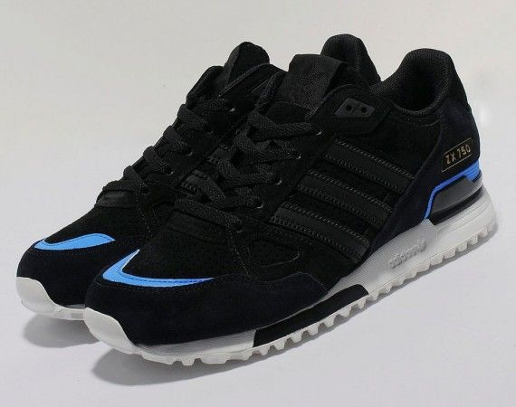 adidas Originals ZX 750 - Black / Blue - White | KicksOnFire.com