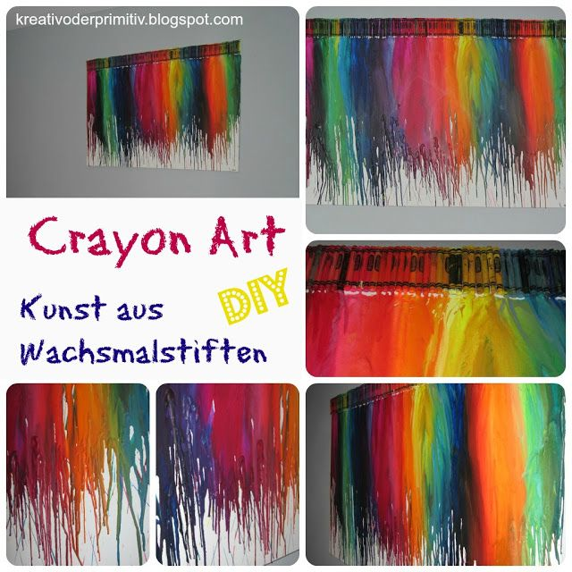 crayon art anleitung wachsmalstifte schmelzen kunst diy selber machen keilrahmen basteln. Black Bedroom Furniture Sets. Home Design Ideas
