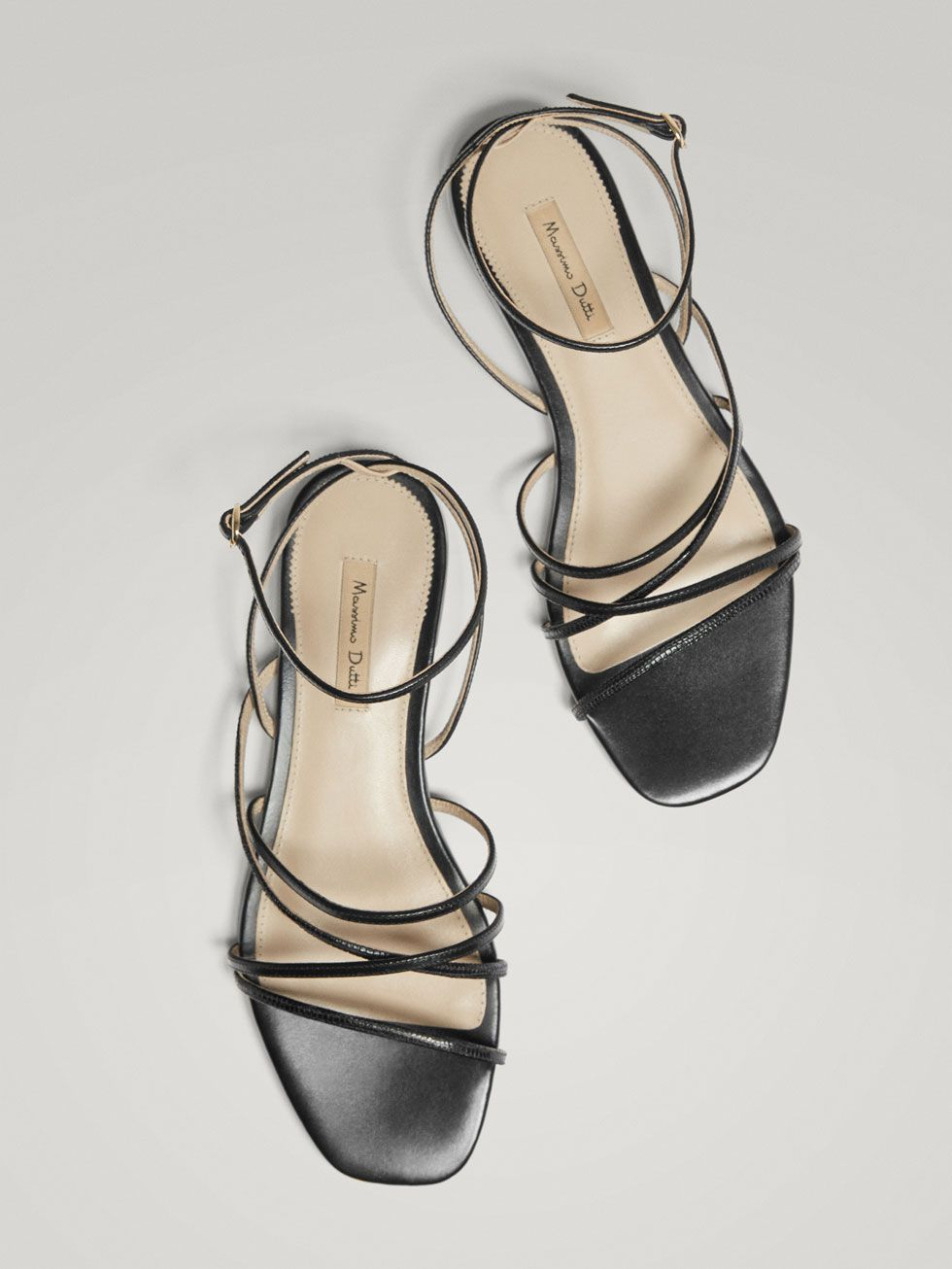 Piel Mujer Massimo Sandalia Negra Dutti EspañaShoes QrhdCts