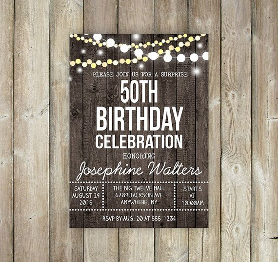 RUSTIC SURPRISE BIRTHDAY Invitation