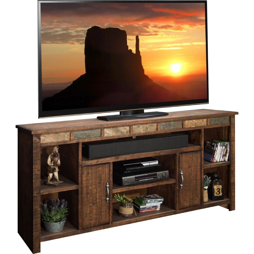Cheap Legends Furniture Cambridge Fireplace Media Center In Cherry - Old west 75 tv stand console in distressed old west dynamichome tv