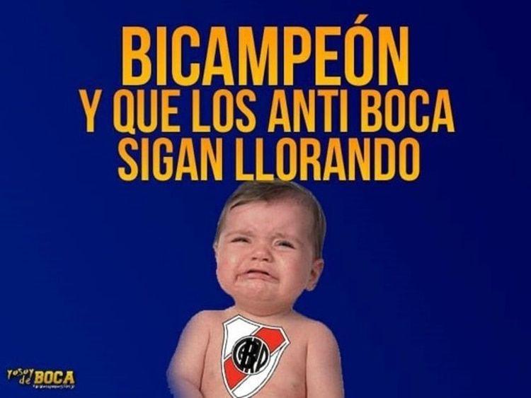 Los mejores memes, con dedicatoria para River, que dejó el nuevo título de Boca - Infobae