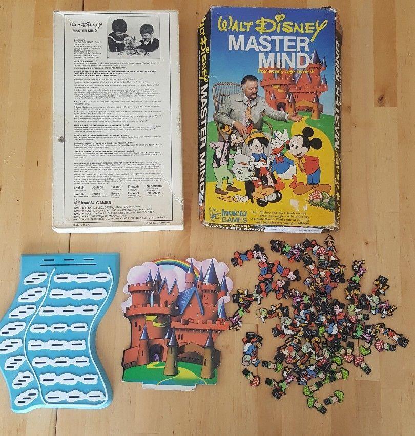 WALT DISNEY MASTER MIND GAME VINTAGE 1979 INVICTA GAMES