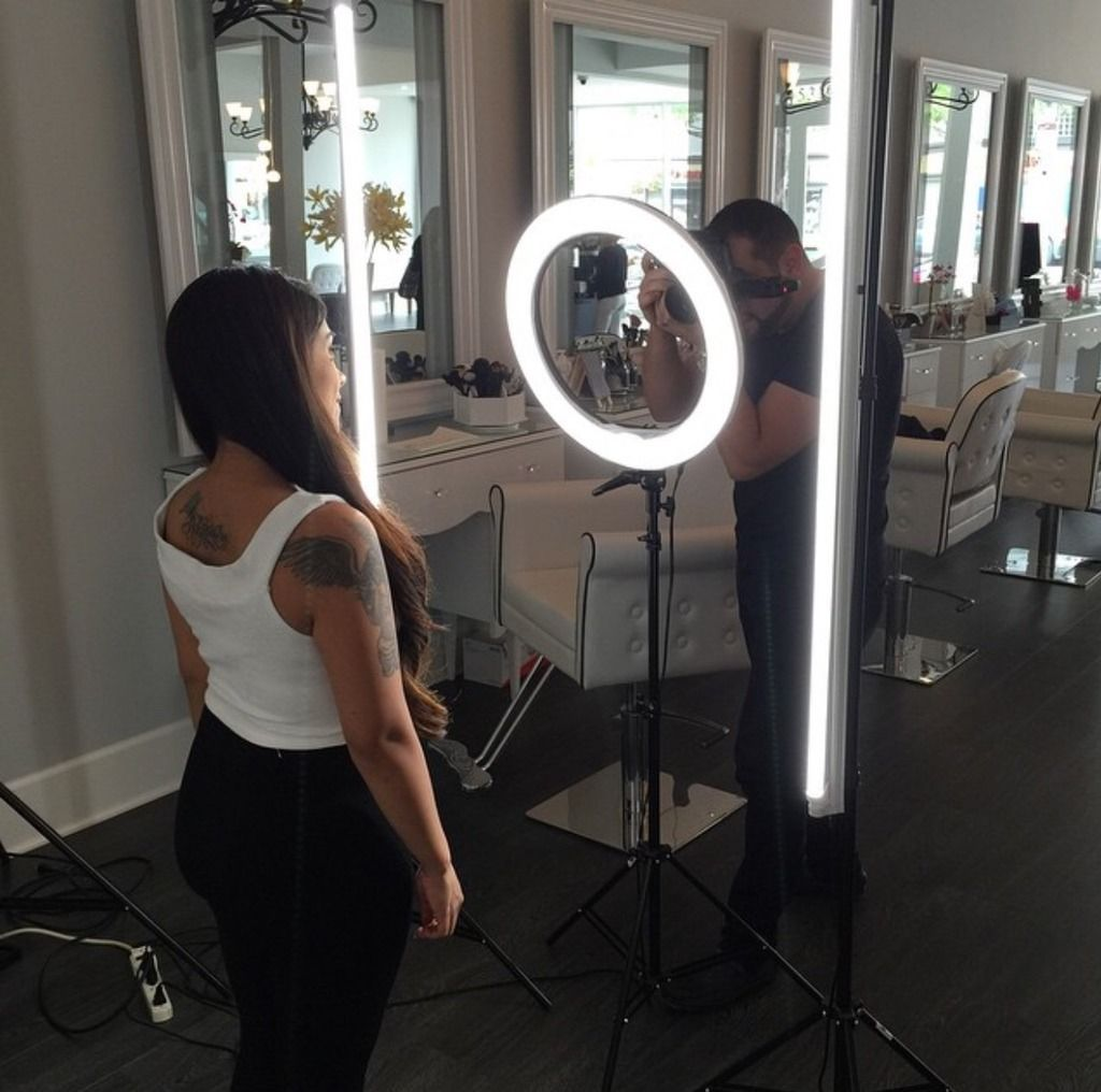 "Stellar 2 Linear Light Panel   1 Diva Ring Light 18""   3 stands ... for Ring Light Makeup Mirror  186ref"