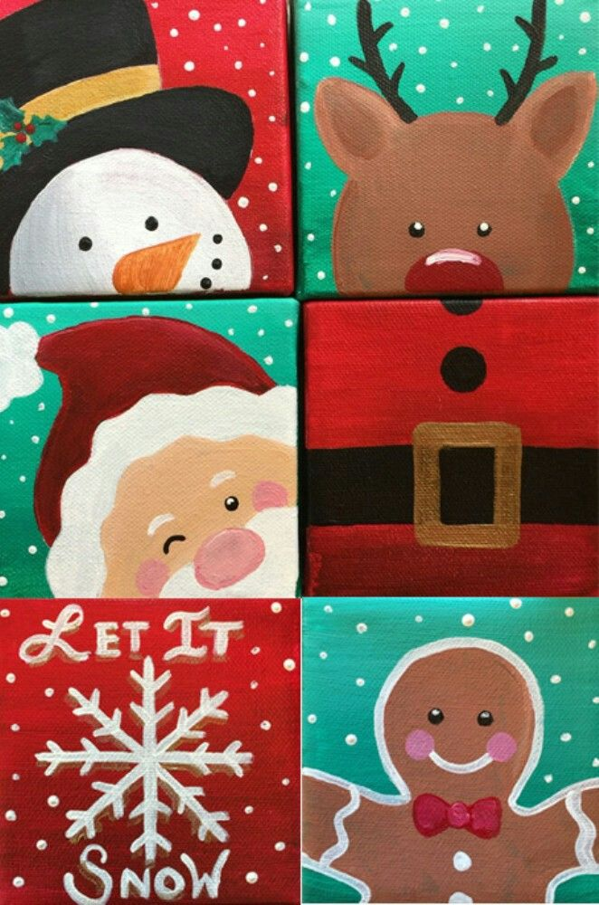 Pin by Sarah Warvi on Christmas Painting Ideas