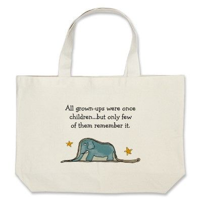 f7476228b986 The Little Prince Elephant inside Boa Constrictor Tote Bag ...