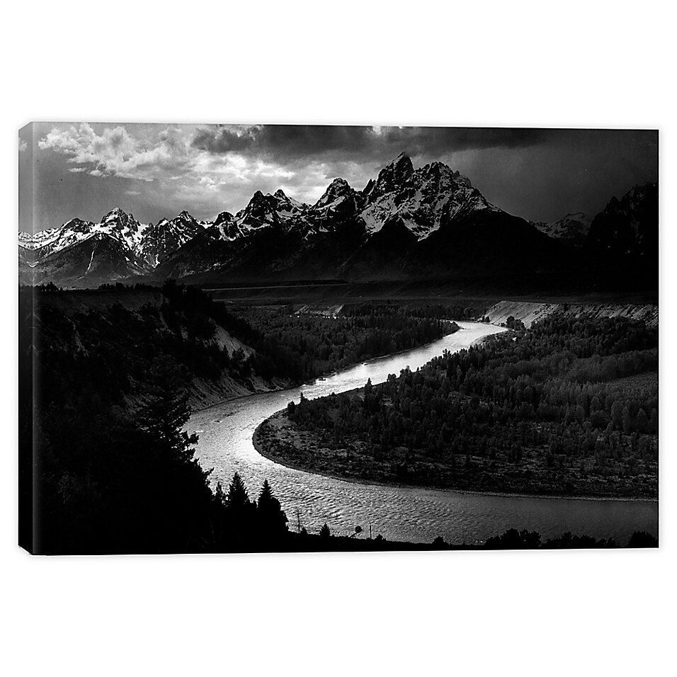 Icanvas Ansel Adams The Tetons Snake River Canvas Wall Art Bed Bath Beyond In 2021 Ansel Adams Tetons Canvas Wall Art