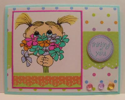 Image is May Bouquet from Squigglefly.com  Card by Rhonda Zmikly