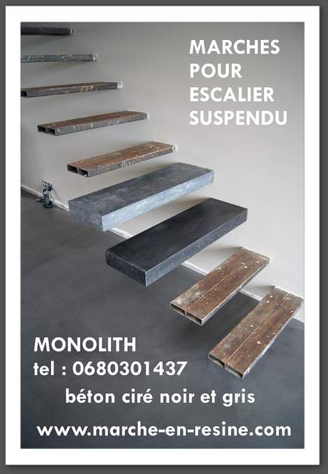 Floating Stair For Garden,floating Stair For Patio,floating Stair Resin  Outdoor System,