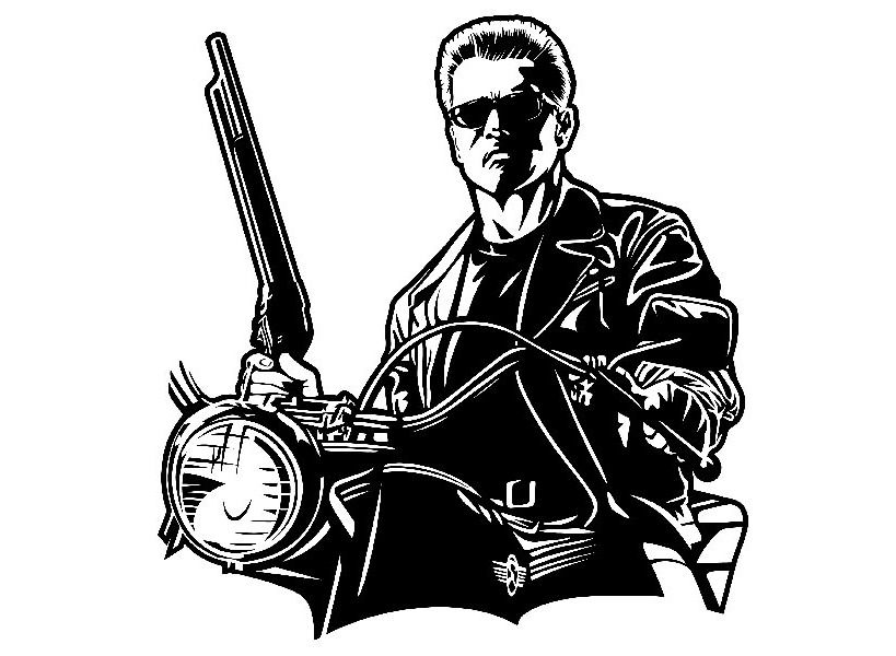 Terminator Schwarzenegger Size 5 3 4x6 3 4 Decal Sticker Custom Size Up To 23 Fashion Home Garden Homedc Terminator Print Vinyl Stickers Stickers Custom
