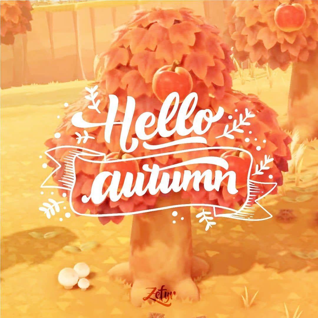 Animal crossing new horizons hello autumn acnl