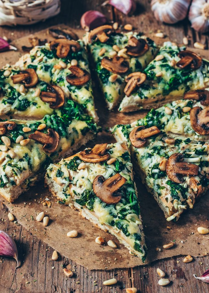 Photo of Garlic Mushroom and Spinach Pizza (vegan) – Bianca Zapatka   Recipes
