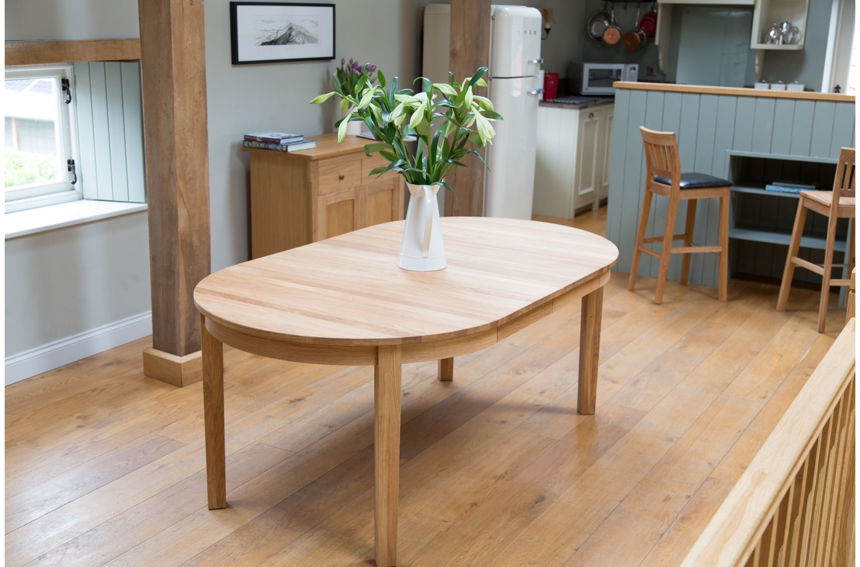 Furniture, Simple Natural Wooden Expanding Dining Table For Wooden Open  Kitchen Design And Decoration Ideas ~ Attractive Expanding Dining Tables  For Room ... Idea