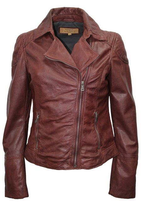 f80e5c419274 Brampton London Women Lilly OxRed Designer Stylish Real Leather Jacket All  size (18, Ox'Red)