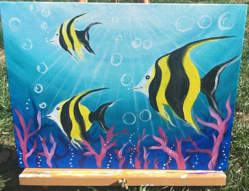 Underwater Painting - Step By Step Acrylic Tutorial - With ...