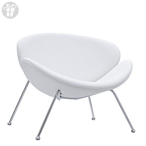 Explore White Vinyl, Home Furniture And More! LexMod Nutshell Mid Century  ...