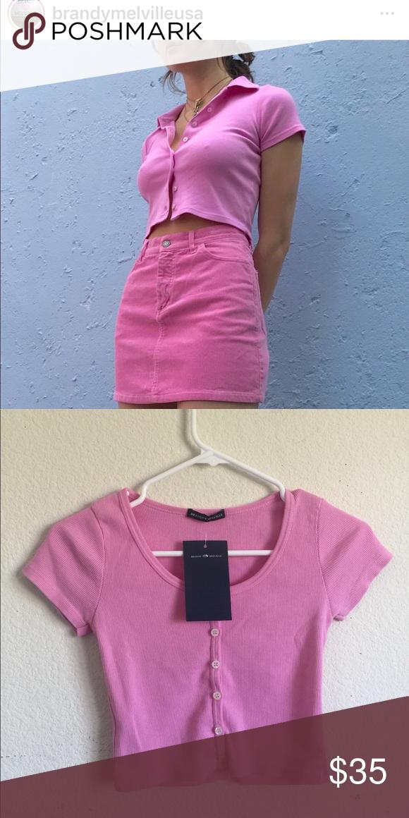 161cde8a72c Brandy Melville pink Zelly top NWT Brandy Melville Tops | My Posh ...