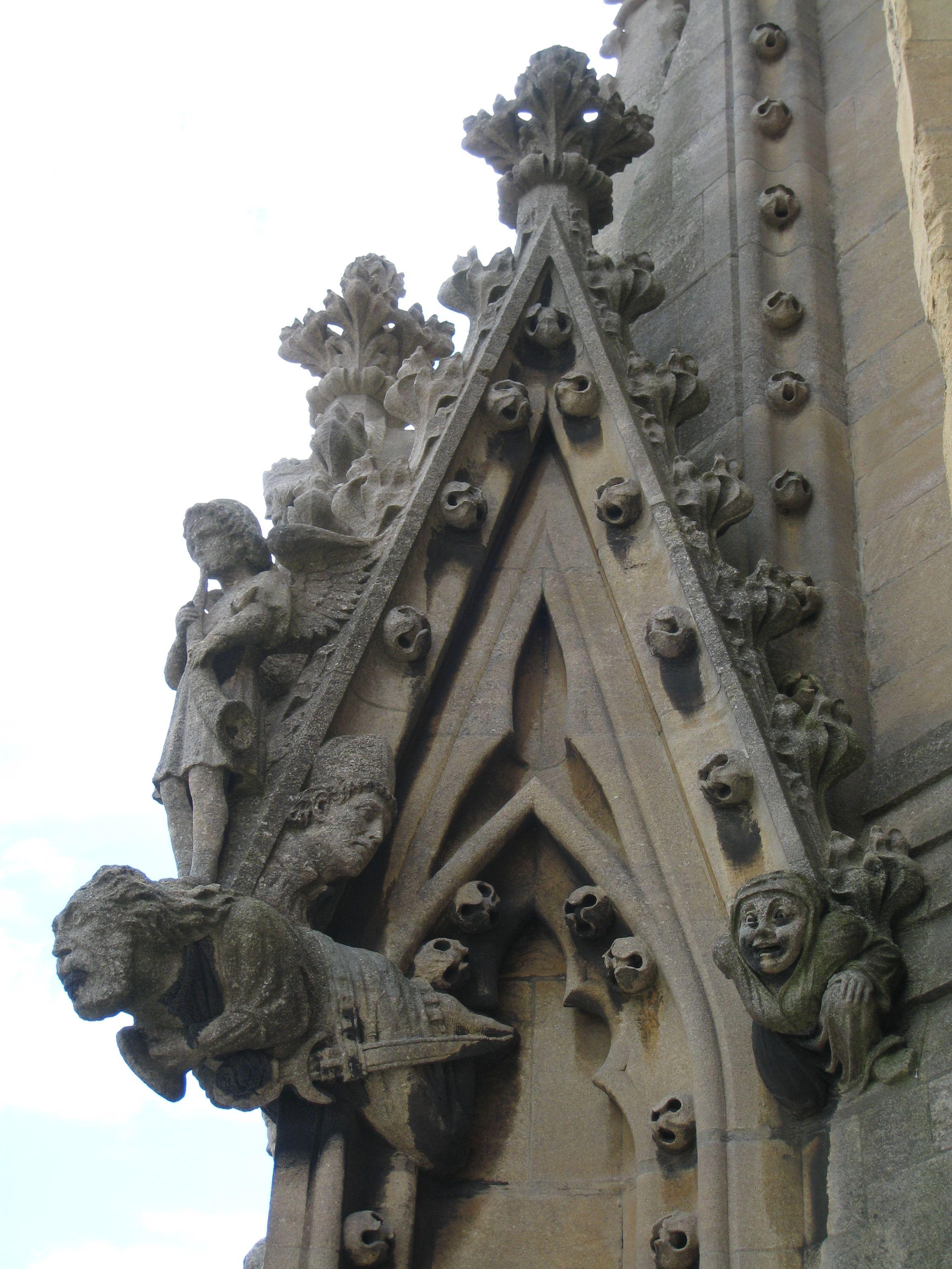 More gargoyles were added to ward away evil